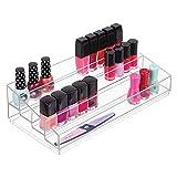 mDesign Organizador de maquillaje – Caja transparente con 4 compartimentos - Ideal para...