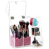 JELINDA Organizador De Maquillaje Y Brochas Acrilico Transparente Organizador Maquillaje...