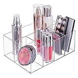 mDesign Organizador de maquillaje – Caja transparente con 5 compartimentos - Ideal para...