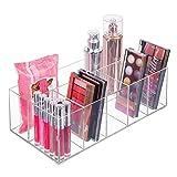 mDesign Organizador de maquillaje – Caja transparente con 6 compartimentos - Ideal para...