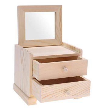 organizador de maquillaje madera